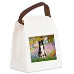 Garden & Border Collie Canvas Lunch Bag