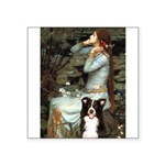 Ophelia & Border Collie Square Sticker 3