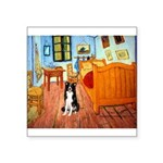 Room with Border Collie Square Sticker 3