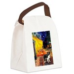 Cafe / Border Collie (Z) Canvas Lunch Bag