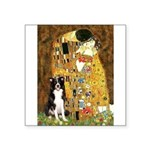 The Kiss & Border Collie Square Sticker 3