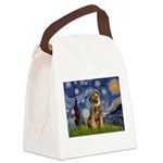 Starry Night / Border Terrier Canvas Lunch Bag