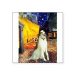 Terrace Cafe & Borzoi Square Sticker 3