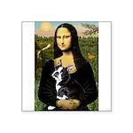 Mona & her Boston Ter Square Sticker 3