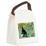 Irises & Boston Ter Canvas Lunch Bag