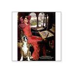 Lady & Boxer Square Sticker 3