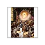 The Queen & her Boxer Square Sticker 3
