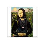Mona / Briard Square Sticker 3