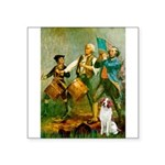 Spirit/Brittany Spaniel Square Sticker 3