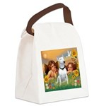 Angels & Bull Terrier #1 Canvas Lunch Bag