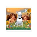 Angels & Bull Terrier #1 Square Sticker 3