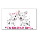 Lilies2-Bull Terrier (P Puzzle Coasters (set of 4)