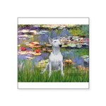 Lilies2-Bull Terrier (P) Square Sticker 3