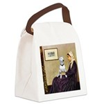 Mom's Bull Terrier (#1) Canvas Lunch Bag
