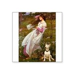 Windflowers Bull Terrier Square Sticker 3