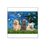 Lilies3/3 Cairn Terriers Square Sticker 3