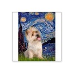 Starry Night / Cairn Terrier Square Sticker 3