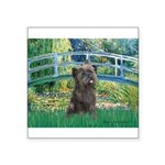 Bridge /Cairn Terrier (w) Square Sticker 3