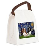 Starry Cavalier Pair Canvas Lunch Bag
