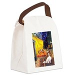 Cafe & Cavalier Canvas Lunch Bag