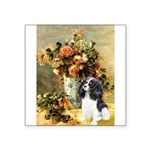 Flowers & Tri Cavalier Square Sticker 3