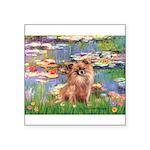 Lilies / Chihuahua (lh) Square Sticker 3