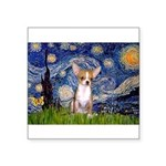 Starry Night Chihuahua Square Sticker 3