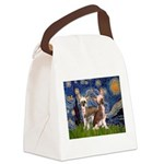 Starry Night / 2Chinese Crest Canvas Lunch Bag