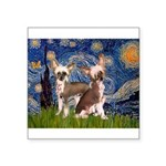 Starry Night / 2Chinese Crest Square Sticker 3