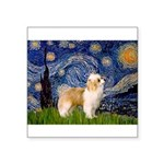 Starry/Puff Crested Square Sticker 3