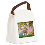 Garden / Chinese Crested Canvas Lunch Bag