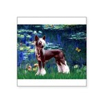 Lilies / Chinese Crested Square Sticker 3