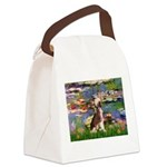 Lilies / C Crested(HL) Canvas Lunch Bag