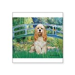 Bridge / Cocker Spaniel (buff) Square Sticker 3
