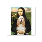 Mona Lisa / Cocker Spaniel Square Sticker 3