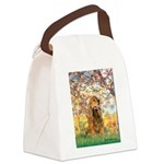 Spring /Cocker Spaniel (buff) Canvas Lunch Bag