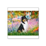 Garden / Collie Square Sticker 3