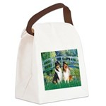 Bridge / Two Collies Canvas Lunch Bag
