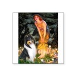 Midsummer's Eve / Collie (tri) Square Sticker 3