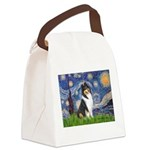 Starry Night / Collie (tri) Canvas Lunch Bag