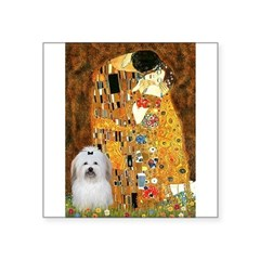 "The Kiss / Coton Square Sticker 3"" x 3"""