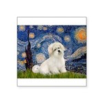 Starry / Coton de Tulear (#7) Square Sticker 3