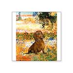 Garden (VG) & Dachshund Square Sticker 3