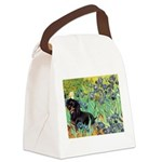 Irises & Dachshund (BT4) Canvas Lunch Bag