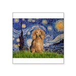 Starry / Doxie (LH-Sable) Square Sticker 3
