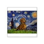 Starry / Dachshund Square Sticker 3
