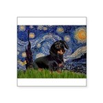 Starry Night Dachshund Square Sticker 3