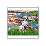 Lilies/ Dalmatian #1 Square Sticker 3