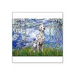 Lilies / Dalmatian #1 Square Sticker 3