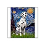 Starry / Dalmatian #1 Square Sticker 3